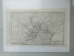 Original Vintage Map Of The Central Of Georgia Railway - 1910