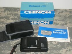 Chinon Bellami 35mm Compact Film Camera Black W/ 35mm 13.9 Lens + Case Japan