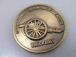 Patron Saint Of Artillery Ole Halfpint Defender Of The South Challenge Coin