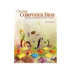 Alfred One-page Composer Bios 50 Reproducible Biographies Of Famous Composers Bk