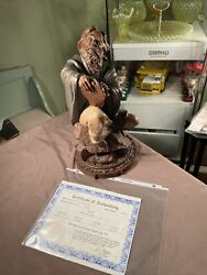 Tom Clark Cairn Studios Moses Sculpture Signed And Numbered With Certificate