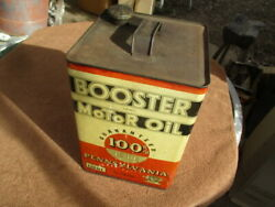 1918-1930's Vintage 2 Gallon Booster Oil Can