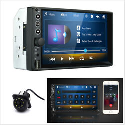 7in Car Stereo Mp5 Player Bt Radio 2din Tf/usb/aux Input+8led Dynamic Track Cam