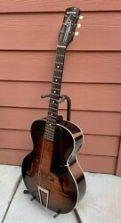 Antique Vintage 1930s Marwin Star Acoustic Archtop Guitar And Case Very Nice