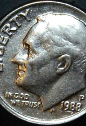 1988 P Dime Ddo The Reverse Has Major Error The Letters Are Big And Bubbly