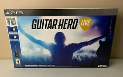 Ps3 Guitar Hero Live Bundle Video Game Controller Dongle Open Box Look