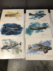 Set Of 22 United Airlines Collector Series Lithographs By Nixon Galloway 75-81