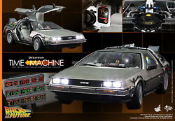 Hot Toys 1/6 Back To The Future Mms260 Delorean Time Machine Car 72x35x21cm