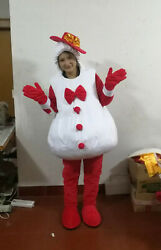 Cute Snowman Mascot Costume Cosplay Party Outfits Halloween Xmas Easter Adults @