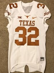 Authentic Nike Texas Longhorns Game Used Worn Issued Football Jersey 32