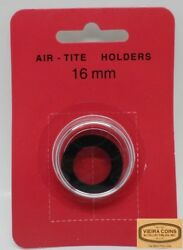 10x 16mm Airtite Coin Holder Capsule Black Ring For 1/10 Gold /platinum -38954