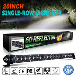 20inch 1200w Led Light Bar Spot Flood Combo Offroad Boat Ute Truck Suv Atv 22and039and039