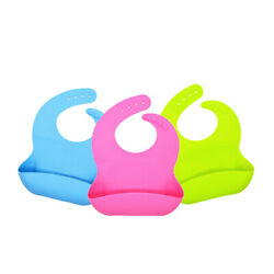 Silicone Baby Bibs, Bpa And Pvc-free, Dishwasher Safe. Pack Of 10.