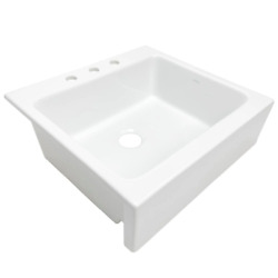 Sinkology Farmhouse Fireclay Kitchen Sink Josephine Quick-fit Drop-in 25.85 In.