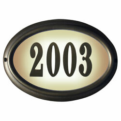 Qualarc Lto-1302fb Edgewood Oval Lighted Address Plaque In French Bronze