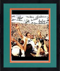 Framed 1972 Dolphins Team Signed 16x20 Photo 19 Sigs Jsa Certified