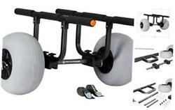 Heavy Duty Kayak Cart Inflatable Beach Wheels 330 Lb Weight Rating for $312.33