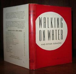 Linton John Walking On Water And Other Sermons 1st Edition 1st Printing