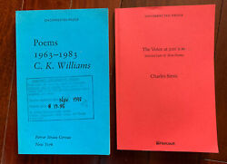Charles Simic And Ck Williams - 2 Signed Uncorrected Proofs-1st Edition Poetry