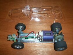 1960and039s Amt Bandido 1/24 Scale Slot Car Chassis With New Body_see The Motor Video