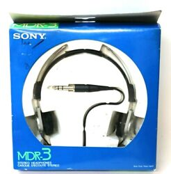 Vintage Sony Mdr-3 Stereo Headphones - Brand New Never Used - 1979 Silver Black