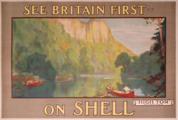 Fourqueray Shell See Britain First On Shell High Tor Matlock 1920 Old Poster