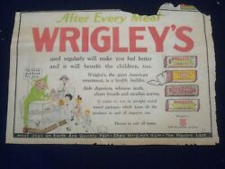 1920's Wrigley's Chewing Gum Color Comics Ad - Np 5260