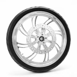 Polished Vortex 21 2.15 Front Wheel Tire Package Bw Abs Harley 08+ Softail Dyna