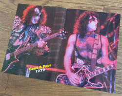 Rock Band Kiss Gene Simmons And Paul Stanley Vintage Poster 1979 Rare