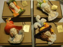 4 Wicked Ladies Complete Set Legends England F Wright Bossons Chalkware Nos Rare
