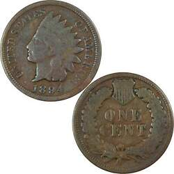 1894/1894 Doubled Date Indian Head Cent G Good Bronze Penny 1c Us Coin