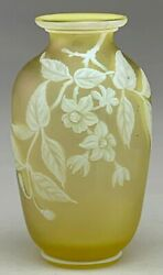 Small Thomas Webb And Sons Cameo Glass Vase.