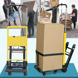 Electric Stair Climbing Hand Truck Folding Utility Cart Aluminum For Hospitals