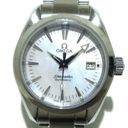Secondhand Omega Seamaster Aqua Terra Wristwatch Ss/shell Dial White Shell