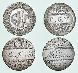 Lot 4 Seated Liberty Dime Love Tokens 5138