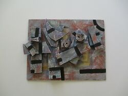Tss Signed Surreal Sculpture Modernism Pop Cubist Abstract Expressionism Rare