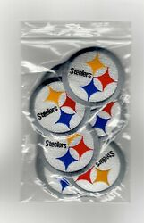 Bag Of Nfl Pittsburgh Steelers Iron-on Patches.lot.fast Ship.close Outs