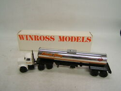 Winross Rutter's Dairy York Pa Since 1921 White Tractor Silver Tanker Mib 1986