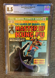 Master Of Kung Fu 16 Cgc 8.5 1st Death Appearance Midnight 2nd Shang-chi Manchu