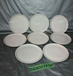 Twa Trans World Airlines 8 Piece White Sterling China Korea Round Meal Plates