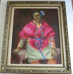 Large Native American Indian Or Mexican Lady Woman Female Model Portrait Barney