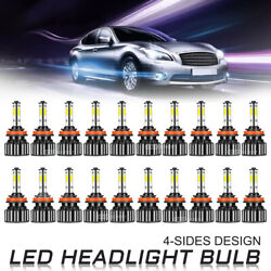 Wholesale 40pcs 4side H11 H8 H9 Led Headlight Bulb Foglight Hi/lo Beam 6000k Kit