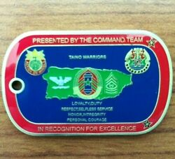 166 Regional Support Group Command Team Dog Tag Puerto Rico Army Challenge Coin