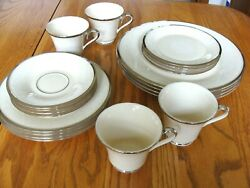 4 Lenox Fine China 5 Piece Place Settings - Moonspun Pattern - Never Been Used