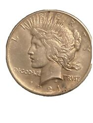1921 Peace Dollar Super Hi Grade Rare Find Ic Ms W/more Wear In The Hair Thentis