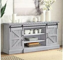 60 Farmhouse Stand Fit Tvand039s Up To 65 Any Room - Storage Barn Doors And...