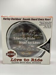 Harley Davidson 2003 H-d Sound Wall Clock Live To Ride Ride To Live