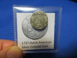 1737 Silver Early American Colonial Coin Before Us Minted Coins Free Shipping