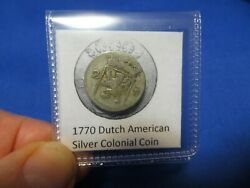1770 Silver Early American Colonial Coin Before Us Minted Coins Free Shipping