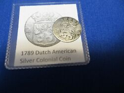 1789 Silver Early American Colonial Coin Before Us Minted Coins Free Shipping